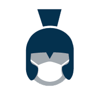 Shield our Spartans - Face Covering icon