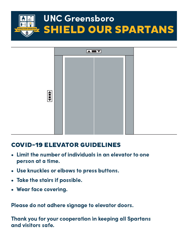 UNCG COVID-19 signage package